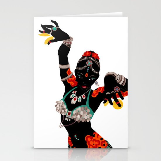 Tattooed Dancer Stationery Card