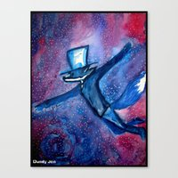 Dandy Fox And The Astral… Canvas Print