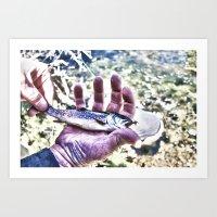 Fish Hand Art Print