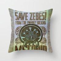 Save Zebes! Metroid Geek… Throw Pillow