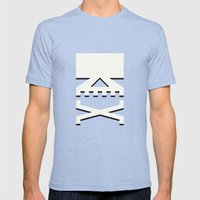 Skull Mens Fitted Tee Tri-Blue SMALL