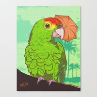 Parrot Illustration Canvas Print