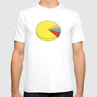 Epic Pie Chart Mens Fitted Tee White SMALL