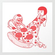 P Is For Pizza 1 Art Print