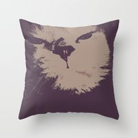 Renegade Cat Throw Pillow