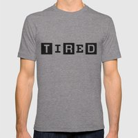 Tired Magazine Mens Fitted Tee Tri-Grey SMALL