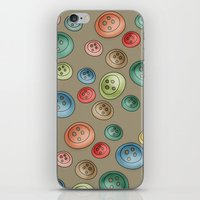Buttons {Polka buttons} iPhone & iPod Skin
