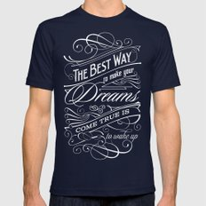 The Best Way - Typography Mens Fitted Tee Navy SMALL