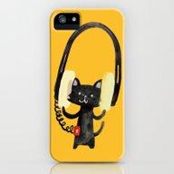 I Love Huge Headphone iPhone (5, 5s) Slim Case