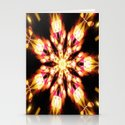 Golden Fire Snowflake Stationery Cards