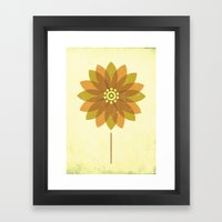 The Sunflower Framed Art Print