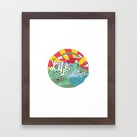 Life Is All Right (Color… Framed Art Print