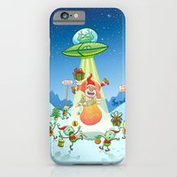 Santa Claus Abducted by a UFO just before Christmas iPhone 6 Slim Case