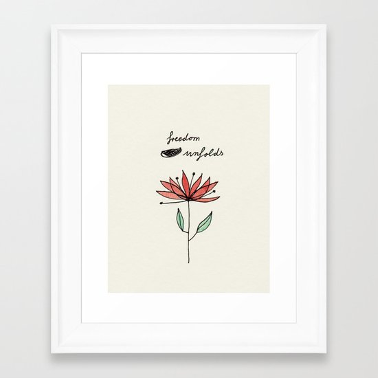 freedom unfolds Framed Art Print