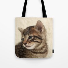 Kitten Portrait Tote Bag