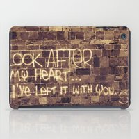 Take Care of My Heart iPad Case