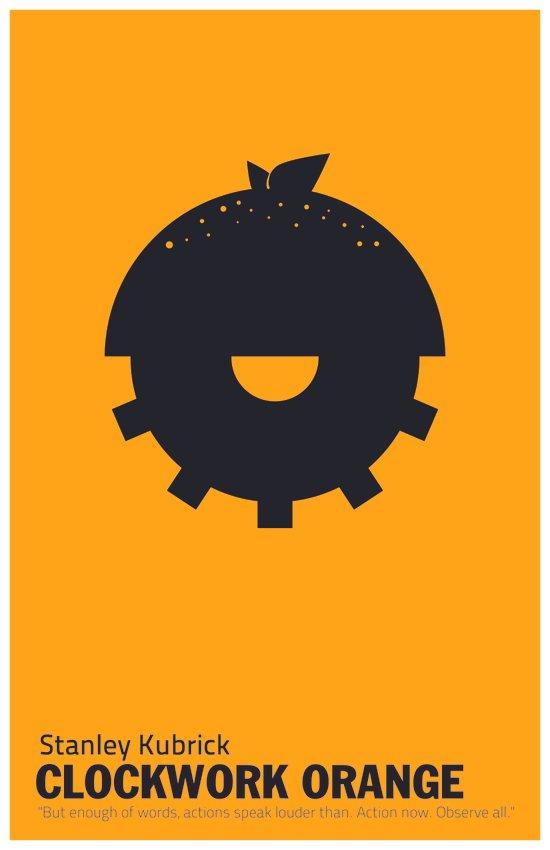 Clockwork Orange   Minimalist Movie Poster Art Print