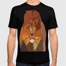 Dark Crystal Lion SMALL Mens Fitted Tee Black