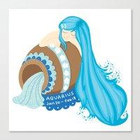 Aquarius Girl Canvas Print