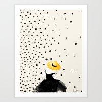 Polka Rain II Art Print