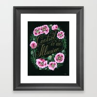 Control is an illusion Framed Art Print