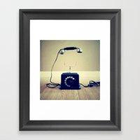 Hello, Are You Listening… Framed Art Print
