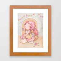 Hobbit Girl Framed Art Print