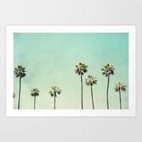 beach Art Prints featuring Palm Trees  by Bree Madden