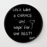 Let's take a chance Wall Clock