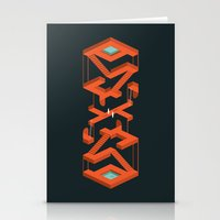 Monument Maze Stationery Cards