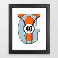 GT40 Framed Art Print