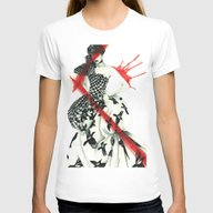 Alexander McQueen Womens Fitted Tee White SMALL