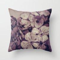 Geraniums -- Monochrome … Throw Pillow
