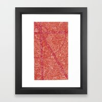 heat Framed Art Print