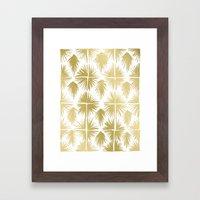 Radiate Gold Framed Art Print