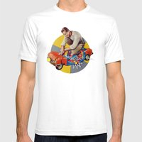 Mr Fixit | Collage Mens Fitted Tee White SMALL