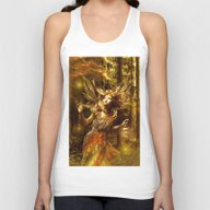 Woman In Forest Unisex Tank Top