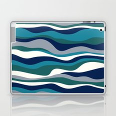 Cordillera Stripe: Teal Navy Combo Laptop & iPad Skin