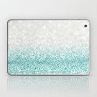 Mint Ombre Glitter Laptop & iPad Skin