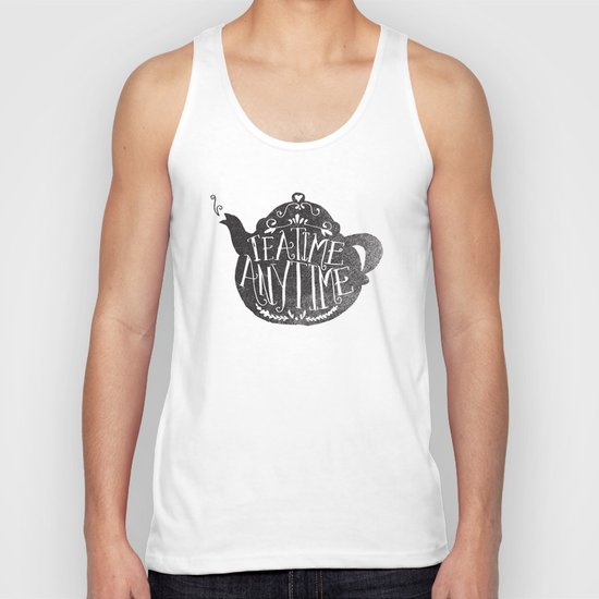 TEA TIME. ANY TIME. Unisex Tank Top