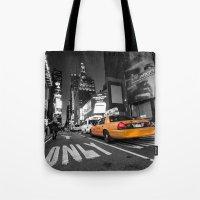 Manhattan nite taxi  Tote Bag