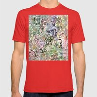 Anymanimals+Whatlifethrowsatyou    Nonrandom-art1 Mens Fitted Tee Red SMALL