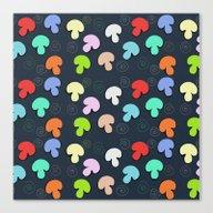 Mushroom Print Canvas Print