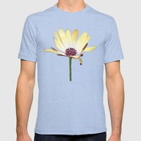 He Loves Me, He Loves Me Not Mens Fitted Tee Tri-Blue SMALL