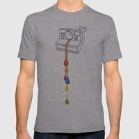 Polaroid Drips Mens Fitted Tee Athletic Grey SMALL