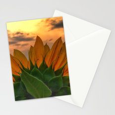 sunflower in the sunset Stationery Cards