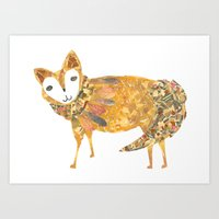 Mr Fancy Fox Art Print