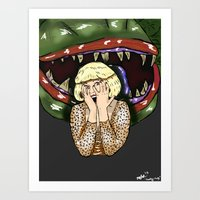 Audrey and Two-y Art Print