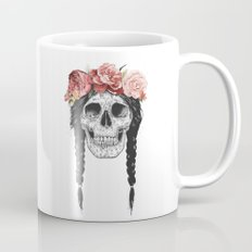 Skull with floral crown Mug