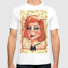 Marilyn Monre Mens Fitted Tee White SMALL